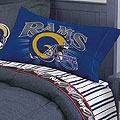 St. Louis Rams Queen Size Pinstripe Sheet Set