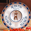 "Auburn Tigers NCAA College 14"" Ceramic Chip and Dip Tray"