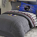 Baltimore Ravens NFL Team Denim Twin Comforter / Sheet Set