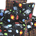 "Moon Gaze 18"" Tailored Throw Pillow - Planets"