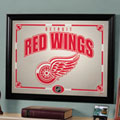 Detroit Redwings NHL Framed Glass Mirror