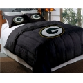 "Green Bay Packers NFL Twin Chenille Embroidered Comforter Set with 2 Shams 64"" x 86"""