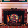 St. Louis Cardinals MLB Stained Glass Fireplace Screen