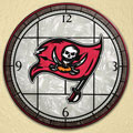 "Tampa Bay Buccaneers NFL 12"" Round Art Glass Wall Clock"