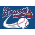 "Atlanta Braves MLB 20"" x 30"" Acrylic Tufted Rug"