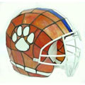 NCAA Clemson Tigers Stained Glass Football Helmet Lamp