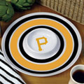 "Pittsburgh Pirates MLB 14"" Round Melamine Chip and Dip Bowl"
