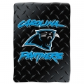 "Carolina Panthers NFL ""Diamond Plate"" 60' x 80"" Raschel Throw"