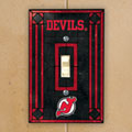 New Jersey Devils NHL Art Glass Single Light Switch Plate Cover
