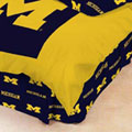 Michigan Wolverines 100% Cotton Sateen Twin Bed Skirt - Navy Blue