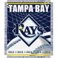 "Tampa Bay Devil Rays MLB 48""x 60"" Triple Woven Jacquard Throw"