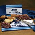 Seattle Seahawks NFL Glass Cutting Board Set