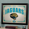 Jacksonville Jaguars NFL Framed Glass Mirror