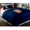 "Detroit Tigers MLB Twin Chenille Embroidered Comforter Set with 2 Shams 64"" x 86"""
