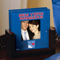 New York Rangers NHL Art Glass Photo Frame Coaster Set