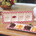 Arkansas Razorbacks NCAA College Gameday Ceramic Relish Tray