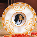 "Tennessee Vols NCAA College 14"" Ceramic Chip and Dip Tray"