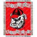 "Georgia Bulldogs NCAA College Baby 36"" x 46"" Triple Woven Jacquard Throw"