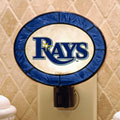 Tampa Bay Devil Rays MLB Art Glass Nightlight
