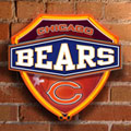 Chicago Bears NFL Neon Shield Wall Lamp