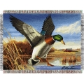 "Hautman Bros.  Easy Landing 48"" x 60"" Metallic Tapestry Throw"