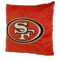 "San Francisco 49ers NFL 16"" Embroidered Plush Pillow with Applique"