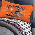 Cleveland Browns Queen Size Pinstripe Sheet Set