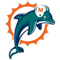 Miami Dolphins Logo Fathead NFL Wall Graphic