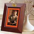 "Clemson Tigers NCAA College 10"" x 8"" Brown Vertical Picture Frame"