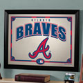 Atlanta Braves MLB Framed Glass Mirror