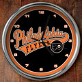 "Philadelphia Flyers NHL 12"" Chrome Wall Clock"