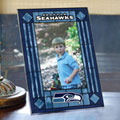 "Seattle Seahawks NFL 9"" x 6.5"" Vertical Art-Glass Frame"