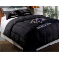 "Baltimore Ravens NFL Twin Chenille Embroidered Comforter Set with 2 Shams 64"" x 86"""