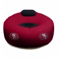 San Francisco 49ers NFL Vinyl Inflatable Chair w/ faux suede cushions