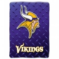 "Minnesota Vikings NFL ""Diamond Plate"" 60' x 80"" Raschel Throw"