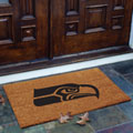 Seattle Seahawks NFL Rectangular Outdoor Flocked Door Mat