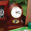 St. Louis Blues NHL Brown Desk Clock
