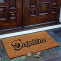 Miami Dolphins NFL Rectangular Outdoor Flocked Door Mat