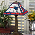 New England Patriots NFL Stained Glass Mission Style Table Lamp