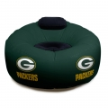 Green Bay Packers NFL Vinyl Inflatable Chair w/ faux suede cushions