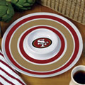 "San Francisco 49ers NFL 14"" Round Melamine Chip and Dip Bowl"