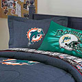 Miami Dolphins NFL Team Denim Pillow Sham