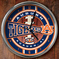 "Auburn Tigers NCAA College 12"" Chrome Wall Clock"
