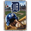 "Detroit Tigers MLB ""Home Field Advantage"" 48"" x 60"" Tapestry Throw"