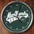 "New York Jets NFL 12"" Chrome Wall Clock"