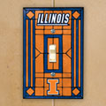 Illinois Illini NCAA College Art Glass Single Light Switch Plate Cover