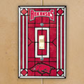 Arkansas Razorbacks NCAA College Art Glass Single Light Switch Plate Cover