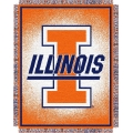 "Illinois Fighting Illini NCAA College ""Focus"" 48"" x 60"" Triple Woven Jacquard Throw"
