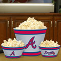 Atlanta Braves MLB Melamine 3 Bowl Serving Set