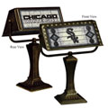 Chicago White Sox MLB Art Glass Bankers Lamp